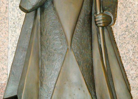 Imagem de S. Geraldo que se venera na Cripta da autoria do escultor Cabeceirense António Pacheco